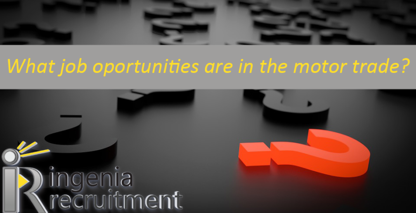 What job opportunities are in the motor trade?