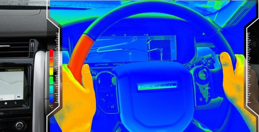 JLR steering wheel thermal